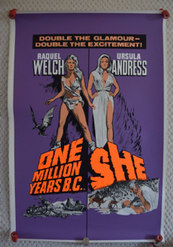 One Million Years BC / She Double Crown Poster, Raquel Welch, Ultra Rare, '65